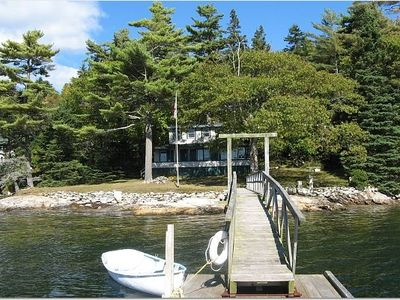 Photo for Classic Maine Waterfront Cottage w/ Deepwater Dock