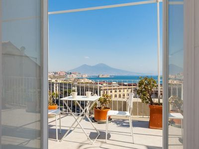 Photo for Mergellina Dream apartment in Posillipo with WiFi, air conditioning & private terrace.