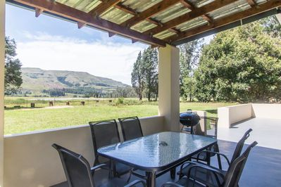 Private nation and braai area at Forest Cottage