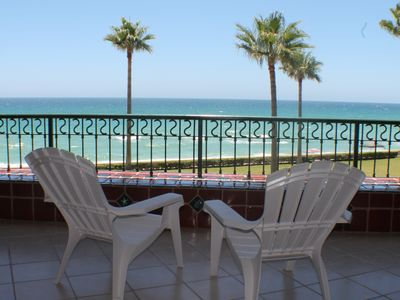 Photo for Stunning Views Await from This True Beachfront Property!