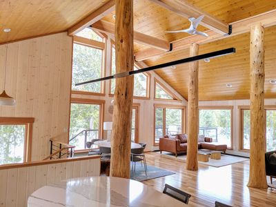 Photo for Light-filled Lake House Nestled in the North Woods