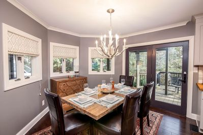 Dining Room with Access to Covered Deck and Outdoor Dining