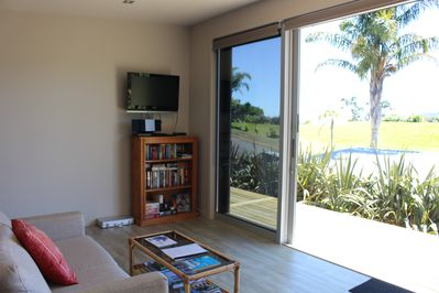 Glenfern Apartment ~ large open plan living with direct flow onto the deck area