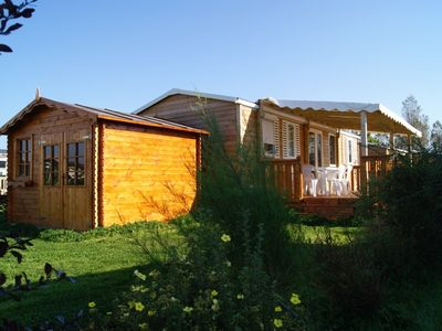 Photo for Comfortable chalet (2011) in Normandy seaside, for 6/8 people