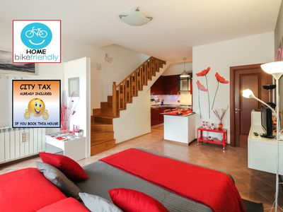 Photo for LOVELY AND COMFORTABLE FLAT + PRIVATE PARKING/ METROSTOP OSTIA ANTICA/FREE BIKES
