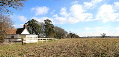 South Lodge - view from the rear - open fields, no neighbours!