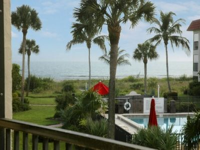 Photo for Sandalfoot 4A2 UPGRADED END UNIT with nice courtyard, pool and Gulf of Mexico views!