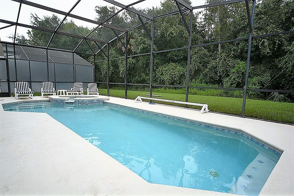 6 Bedroom Orlando Kissimmee Vacation Home With Conservation View Outdoor Spa And Games Room