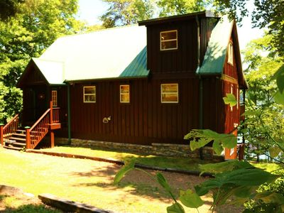 Photo for Ma Cook Lodge is a wonderful lakefront vacation home with private boat dock on Norris Lake. Pet frie