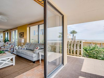Photo for Stunning Gulf front condo w/ a spacious layout, shared pools, & fitness room