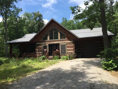 Photo for Gorgeous Log Home Across From The Pinery