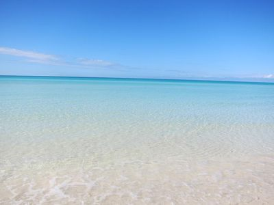 Crystal clear water out your door.