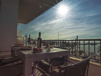 Photo for Alcudiamar etvpl / 12507 Fantastic apartment with sea views on the seafront