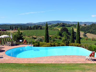 Photo for Nice apartment with WIFI, private pool, TV, pets allowed and parking, close to San Gimignano