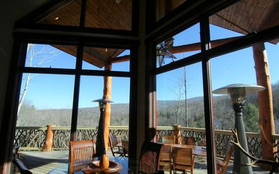 You won't miss a bit of the panoramic view through the huge windows at Copperleaf at Eagles Nest