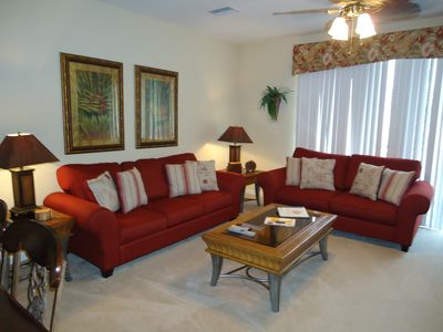 Townhome 2-Comfortable living room with brand new queen sleeper sofa & love seat