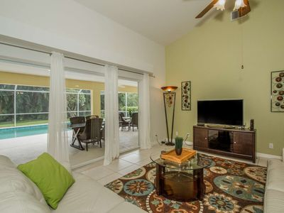 Photo for Briarwood single family home w/upscale modern decor & secluded private pool w/screened lanai