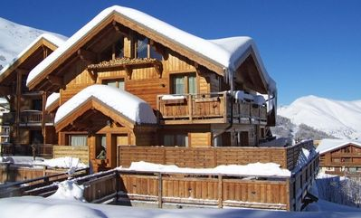Photo for Beautiful chalet located in the center and 150m from the slopes