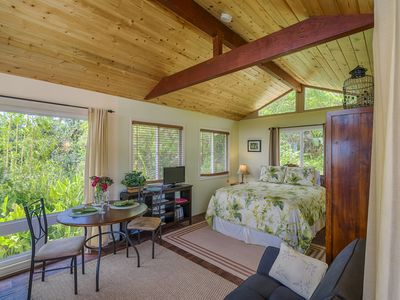 Photo for Puna Rainforest Retreat Green Bamboo Studio- Ocean View