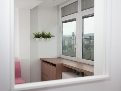 Photo for Rosa apartment with double bedroom and living room / kitchen with sofa bed and private bathroom