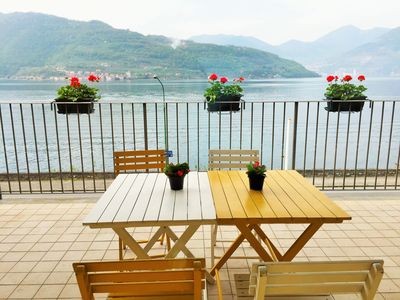 Photo for Lago di Sale 8: three-room apartment with a view