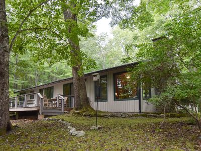Photo for Secluded Woodland Luxury Get-away.  Great for golfers, couples and families.