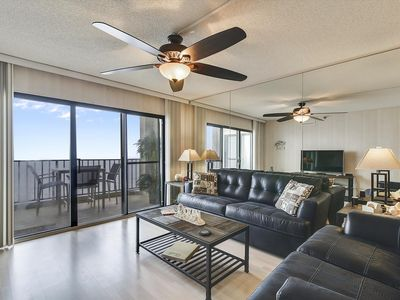 Photo for FREE DAILY ACTIVITIES! Direct Oceanfront  2  bedroom, 2 bath with an open den (set up as dining room).