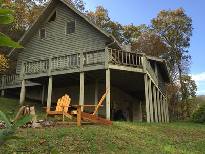 Photo for Creek Bend Cabin . Close To Highlands, NC. Room to Explore! LOW SUMMER RATES!
