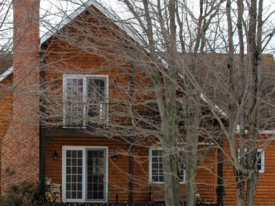 Photo for Log home inspired chalet, Centrally located, 1.5kms from Belmont Provincial Park