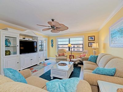Photo for Top Floor, Beach View! 2019 remodel,new 5x4 shower with 2 vanities, stocked full