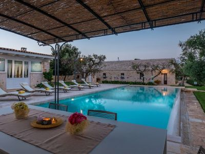 Photo for Castellana Grotte Villa, Sleeps 8 with Pool and WiFi