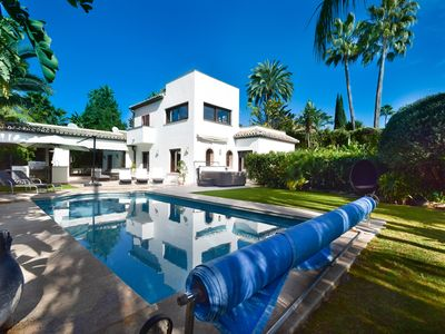 Photo for luxurious villa close to Puerto Banús with Jacuzzi and heated pool in Aloha