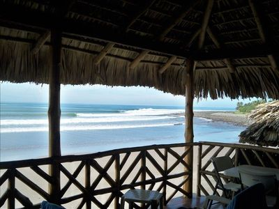 Photo for Epic Ocean Front Surf House in La Libertad, El Cocal Beach