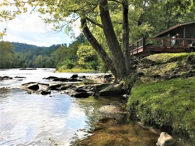 Photo for *The Great Escape* Peaceful Riverfront Cabin with Stunning Views! Firepit & Wifi