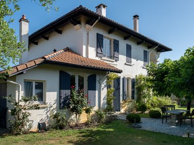Photo for Large villa and cottage with pool near the beach of Contis