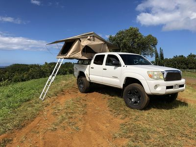 """Photo for Roof top tent on my Toyota Tacoma """" White Mana"""""""