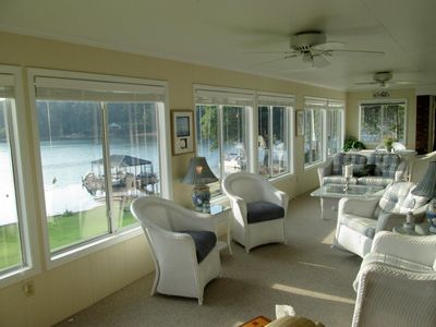 Photo for Panoramic Views, Best Location on Keowee, 150' of shoreline, 10 min. to Clemson