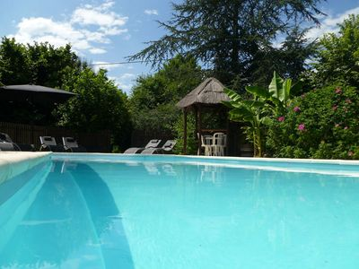 Photo for Spacious Family Farmhouse with Private Heated Pool near Bergerac & St Emilion