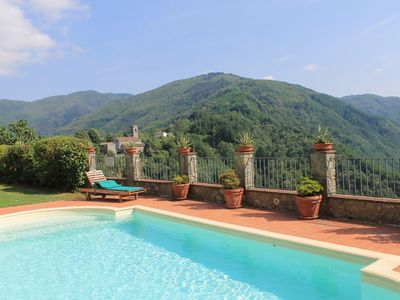 Photo for Lovely apartment for 6 guests with pool, WIFI, TV, panoramic view and parking