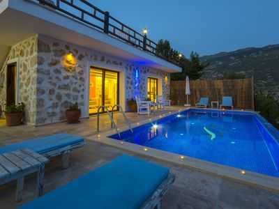 Photo for STONE BUILT VILLA WITH THE BEST VIEW OF KALKAN