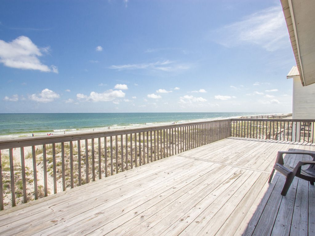Lookin At The Beach Gulf Front 5br Home W Large Deck Ss Al