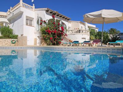 Photo for Great Heringklee villa with private pool, A/C, terrace, close to the sea.