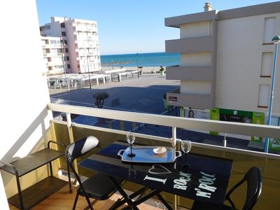 Photo for 50M FROM THE BEACH BEAUTIFUL APARTMENT 2 / 4PERS TERRACE SEA VIEW