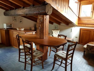 Photo for Attic in the heart of Courmayeur, Via Roma 97, * accommodation 4 *