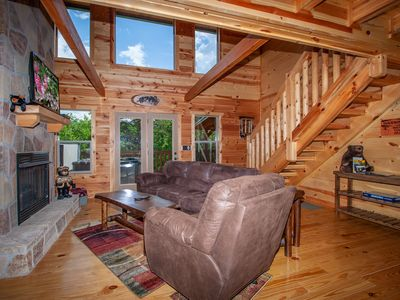 Photo for New and Beautiful Log Cabin!