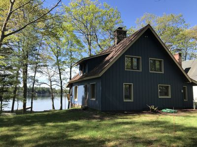 Photo for Lovely lakefront log cabin on Eight Point Lake. Relax or have fun in the lake!