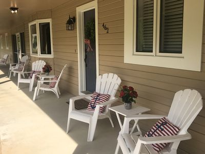 Plenty of seating area on the front porch.