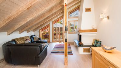 Photo for Ski-in, Ski-out, Luxury Duplex Penthouse in Chalet Stella in Wengen!