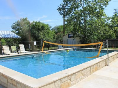 Photo for 337 River House & Bunk House - Riverfront!  Volleyball Pool!