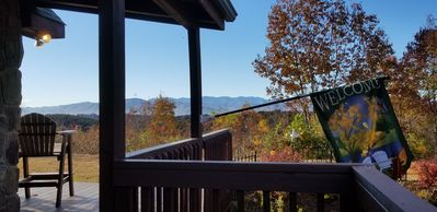 Beautiful Fall foliage from covered porch!